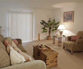 Living Room, Amberwood Apartments