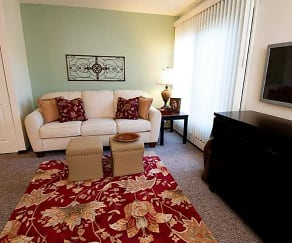 Living Room, Hopkins Village Apartments