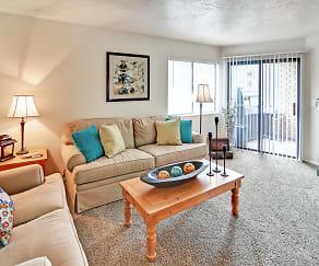 Living Room, Fox Creek Apartments