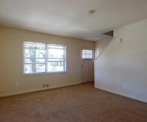 Living Room, River Terrace Apartments