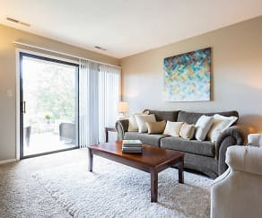 Living Room, The Pines of Roanoke Apartments