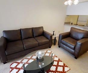 Living Room, 408 E. Green Apartments