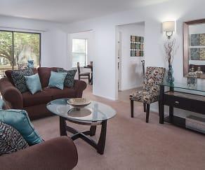 Living Room, Durham Woods at Edison