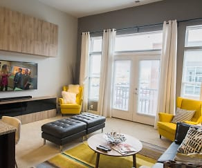The Grant - Living Room, Liberty Center Apartments