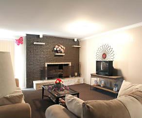 Living Room, Auburn Village Townhomes