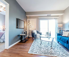 Living Room, Gateway Green Apartments