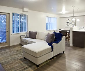 Living Room, Riverview Loft Apartments
