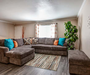 Living Room, Villas at Papago Apartments