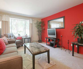 Living Room, Lake Point Terrace Apartments