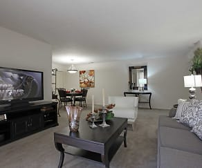 Living Room, Foxmoor Apartments
