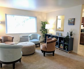 Living Room, Arbor Hills Apartments