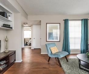 Living Room View - Fox Trails Apartments, Fox Trails