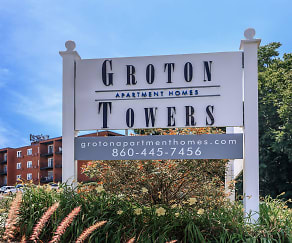 Community Signage, Groton Towers Place Apartments