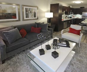 Living Room, The Edge at Flagler Village Apartments