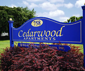 Community Signage, Cedarwood Apartments