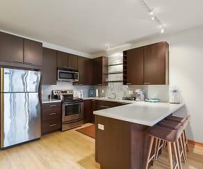 Kitchen, Blue Apartments