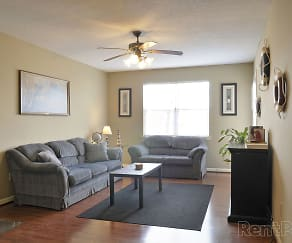 Living Room, Park Knoll Apartments