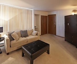 Living Room, Woodland Court Apartments