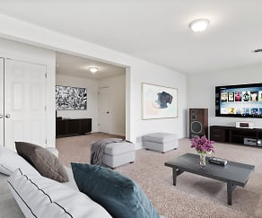 Living Room, Crooked Hill Townhomes