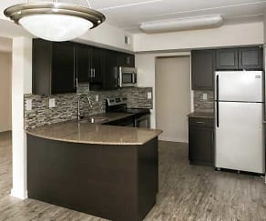 Kitchen, Tunbridge Apartments