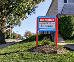 Community Signage, Montclair Duplex Apartments