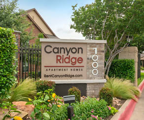 Community Signage, Canyon Ridge Apartments