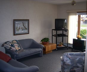 Living Room, Cooperative Living Center 55+ Apartments