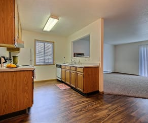 Oxford Apartments - 2 Bedroom - Kitchen - Dining - Living, Oxford Apartments