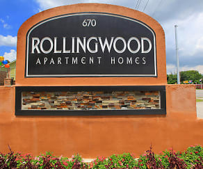 Community Signage, Rolling Wood Apartments
