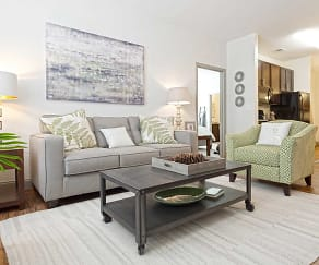 Living Room, Watercourse Apartments