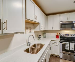 Kitchen, University Center Apartments-Per Bed Leases