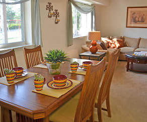 Dining Room, Jamestown Village Apartments