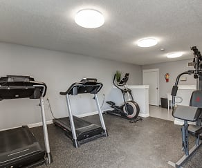 Fitness Weight Room, Woodway Apartments