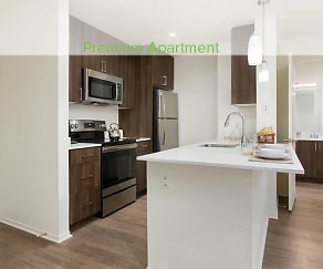 Premium Apartment Kitchen with Stainless Steel Appliances, eaves Seal Beach