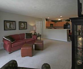 Living Room, Stone Ridge Apartments