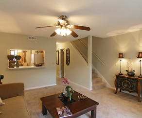 Living Room, Bluff House Townhomes