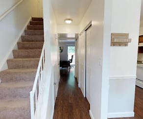 Two Bedroom Townhome Foyer, Walnut Creek Townhomes