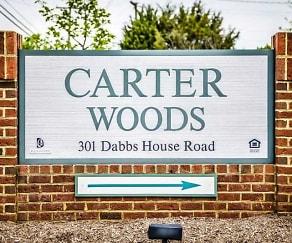 Community Signage, Carter Woods Senior Living 62+