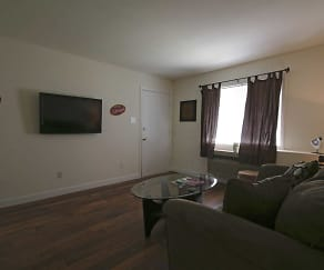 Living Room, Pressley South End Apartments
