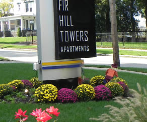 Property Sign, Fir Hill Towers