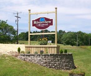 Community Signage, Riverview Apartments