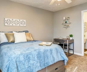 Bedroom, The Block Townhomes