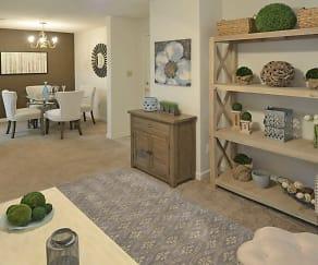 Living Room, Rutland Place Apartment Homes