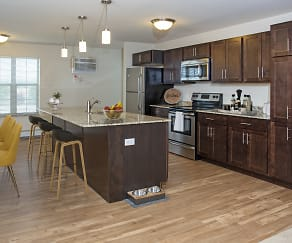 Large Kitchen Center Islands, Cardinal Point Apartments