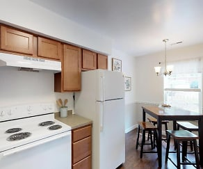 Two Bedroom Kitchen/Dining Room, Walnut Creek Townhomes