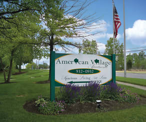 Community Signage, American Village Apartments