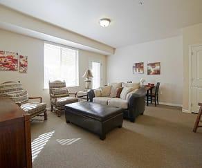 Living Room, Silver Crest Senior living 55+ Apartments
