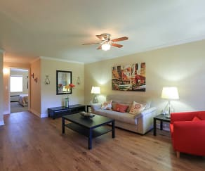 Living Room, Griffin Park Apartments