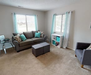 Living Room, Indian Woods Apartments of Evansville