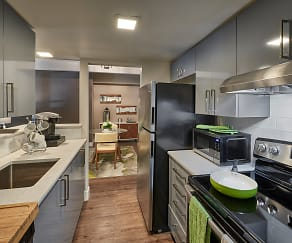 Kitchen, Luxe Towers